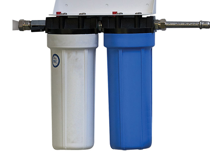 Pre-filtration removes particulate matter and chlorine