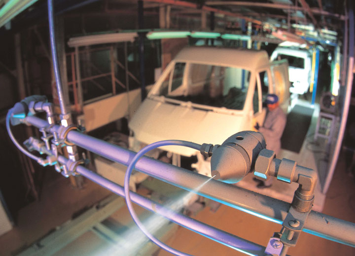 Automotive manufacturing humidity control